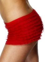 Ruffle Lace culotte rouge Sous-vêtements