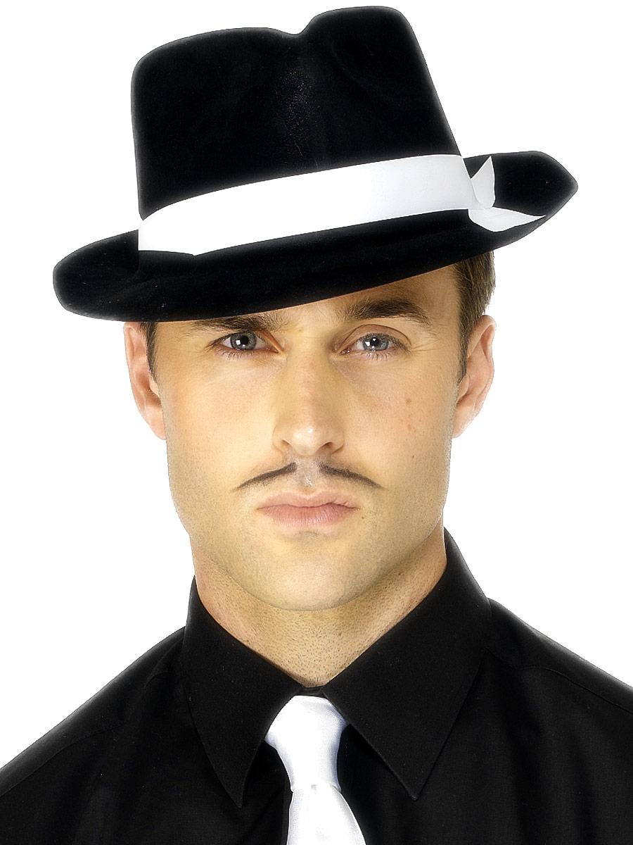 Borsalino Chapeau Al Capone chapeau noir troupeau