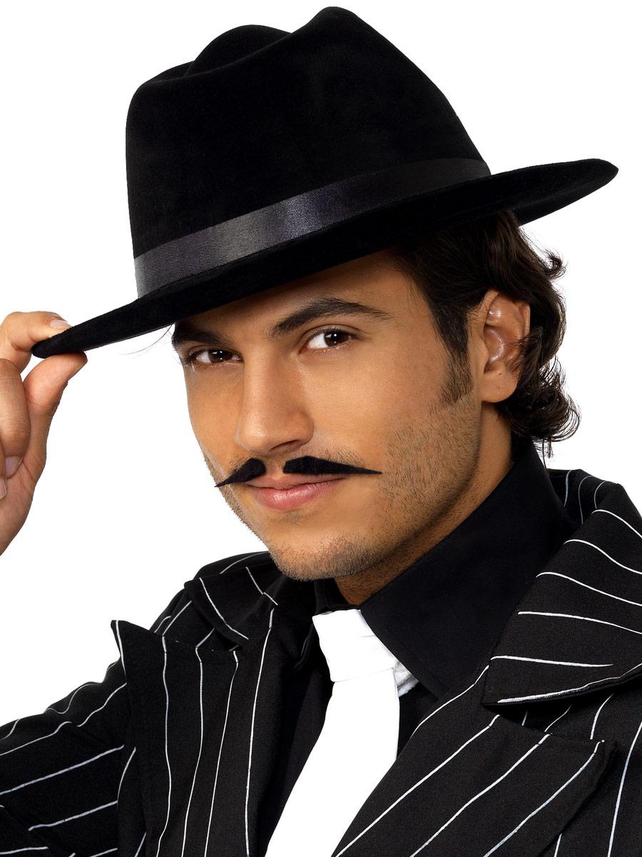 Borsalino Chapeau Gangsters chapeau de soie de velours noirs