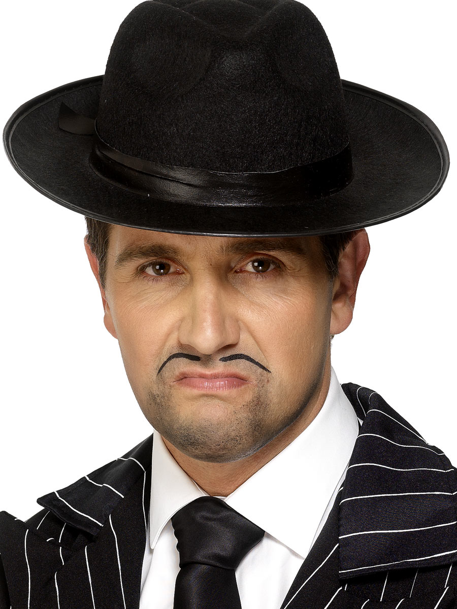 Borsalino Chapeau Trilby Gangster chapeau de feutre noir