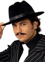 Gangsters chapeau de soie de velours noirs Borsalino Chapeau