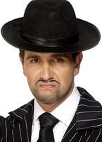 Trilby Gangster chapeau de feutre noir Borsalino Chapeau