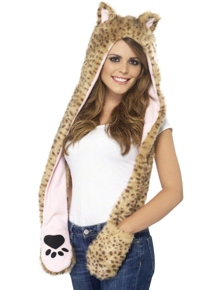 Chapeaux Animaux Capuche léopard