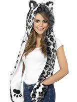 Hotte de Snow Leopard Chapeaux Animaux