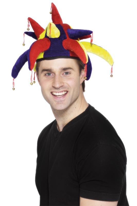 Chapeaux de Clown Bouffons chapeau velours bleu jaune rouge