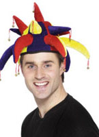 Bouffons chapeau velours bleu jaune rouge Chapeaux de Clown