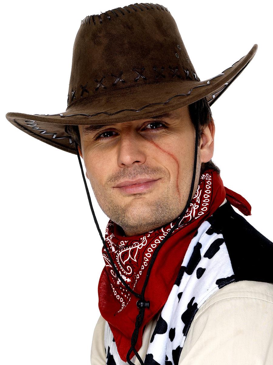 Chapeaux de Cowboy Chapeau de Cowboy marron Suede Look