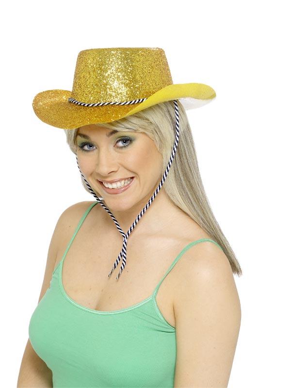 Chapeaux de Cowboy Chapeau de Cowboy Glitter or Pvc