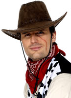 Chapeau de Cowboy marron Suede Look Chapeaux de Cowboy