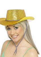 Chapeau de Cowboy Glitter or Pvc Chapeaux de Cowboy