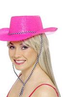 Cowboy paillette chapeau Neon Pink Chapeaux de Cowboy
