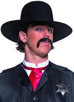 L'échelle occidentale chapeau chapeau de shérif Chapeaux de Cowboy