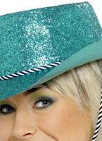 Chapeau de Cowboy de scintillement Turquoise Pvc Chapeaux de Cowboy