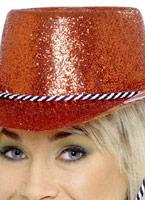 Chapeau de Cowboy Glitter rouge Pvc Chapeaux de Cowboy