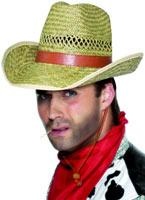 Paille de chapeau de paille Cowboy Rancher Chapeaux de Cowboy