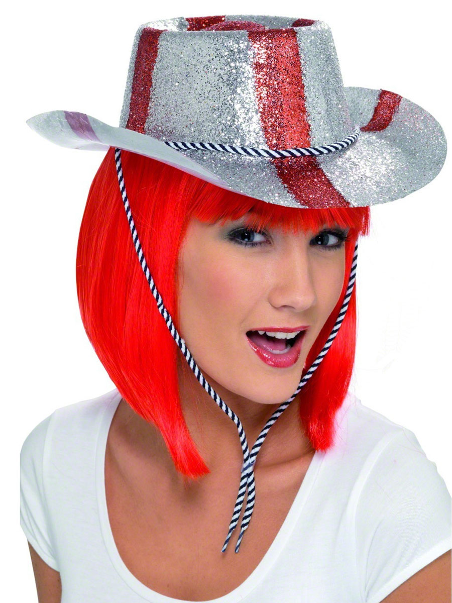 Chapeaux du monde St Georeges Cowboy Glitter chapeau Pvc