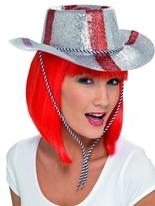 St Georeges Cowboy Glitter chapeau Pvc Chapeaux du monde