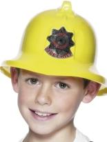 Firemans chapeau jaune en plastique Chapeaux Enfants
