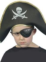 Crâne et OS croisés Childrens Pirate capitaine chapeau Chapeaux Enfants