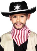 Shérifs Childrens chapeau de feutre noir Chapeaux Enfants