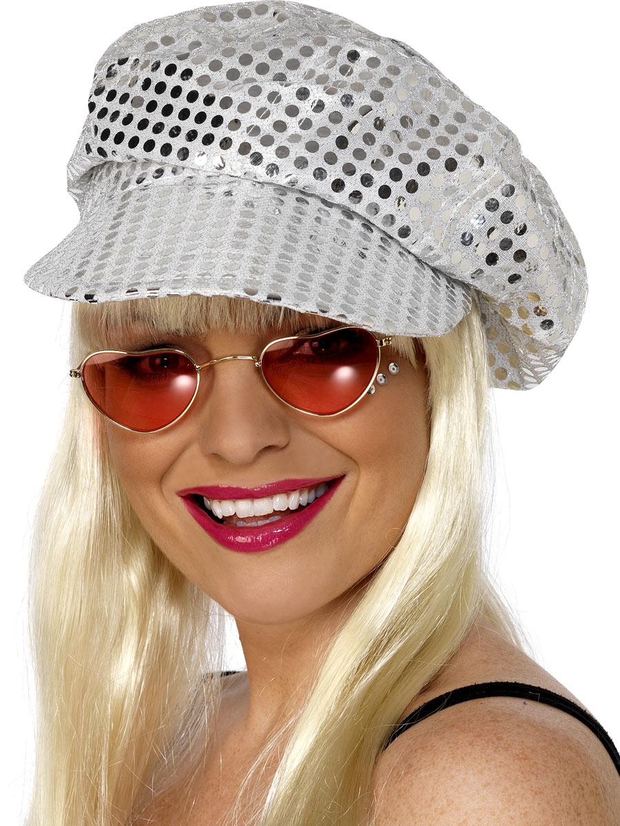 Chapeaux Générique Paillettes Disco chapeau paillettes argent
