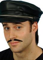 Biker chapeau cuir argent noir Look Chapeaux Générique