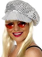 Paillettes Disco chapeau paillettes argent Chapeaux Générique