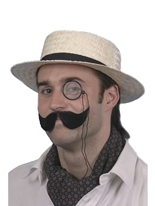 Chapeau canotier luxe avec bande noire Chapeaux Générique