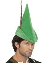 Chapeau de Robin des bois luxe avec plume Chapeaux Historiques