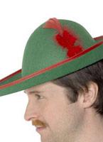 Feutre vert chapeau de Robin des bois Chapeaux Historiques