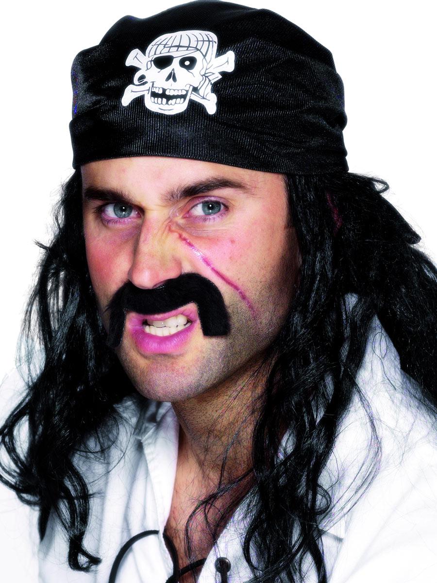 Chapeaux de Pirate Pirates Bandana noir