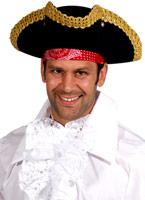 Adulte chapeau TRICORNE Deluxe Chapeaux de Pirate