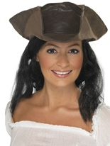 Pirates chapeau Look cuir marron Chapeaux de Pirate