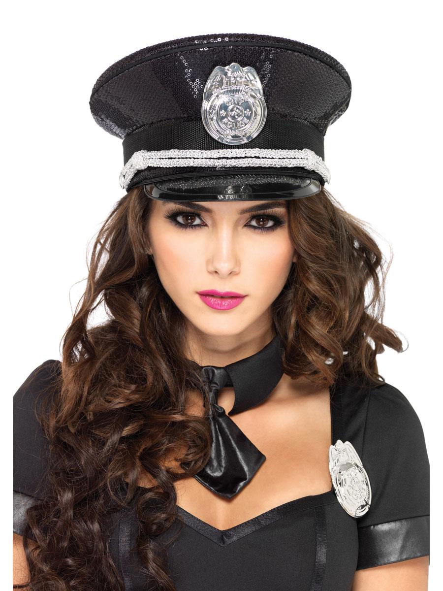 Chapeaux Uniforme Hat Cop paillette