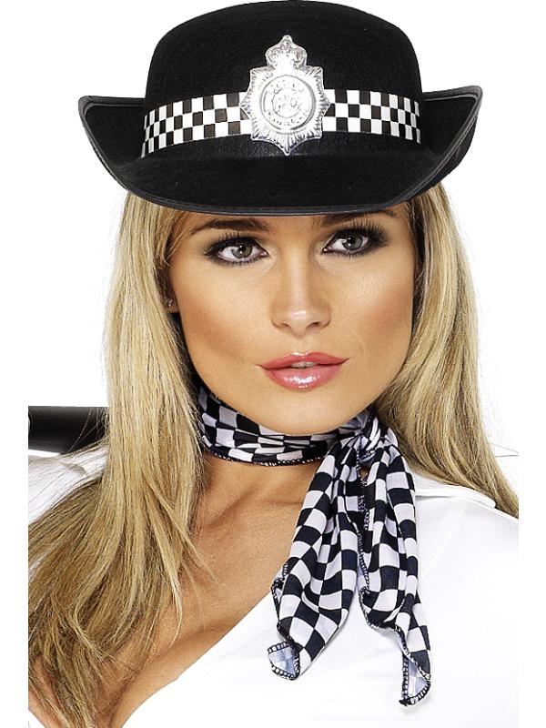 Chapeaux Uniforme Policewomans chapeau de feutre noir