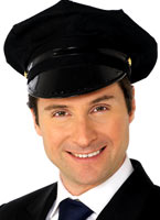 Black Hat avec chauffeur Chapeaux Uniforme