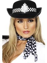 Policewomans chapeau de feutre noir Chapeaux Uniforme