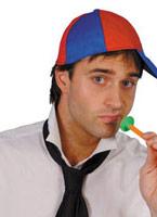 Ecolier Cap bleu tissu rouge Chapeaux Uniforme