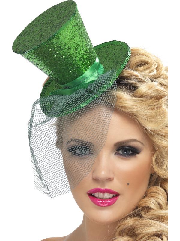 Hauts-de-Forme Fièvre Mini chapeau haut vert foncé