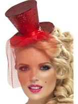 Fièvre Mini chapeau rouge Hauts-de-Forme