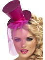 Hauts-de-Forme Fièvre Mini chapeau haut rose chaud