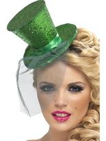 Fièvre Mini chapeau haut vert foncé Hauts-de-Forme