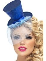 Mini chapeau haut de forme bleu Hauts-de-Forme