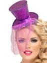 Hauts-de-Forme Mini chapeau haut de forme pourpre