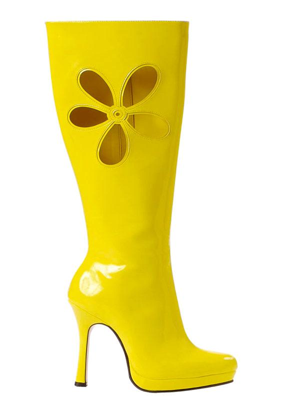 Chaussures pour femmes Amour bottes jaune