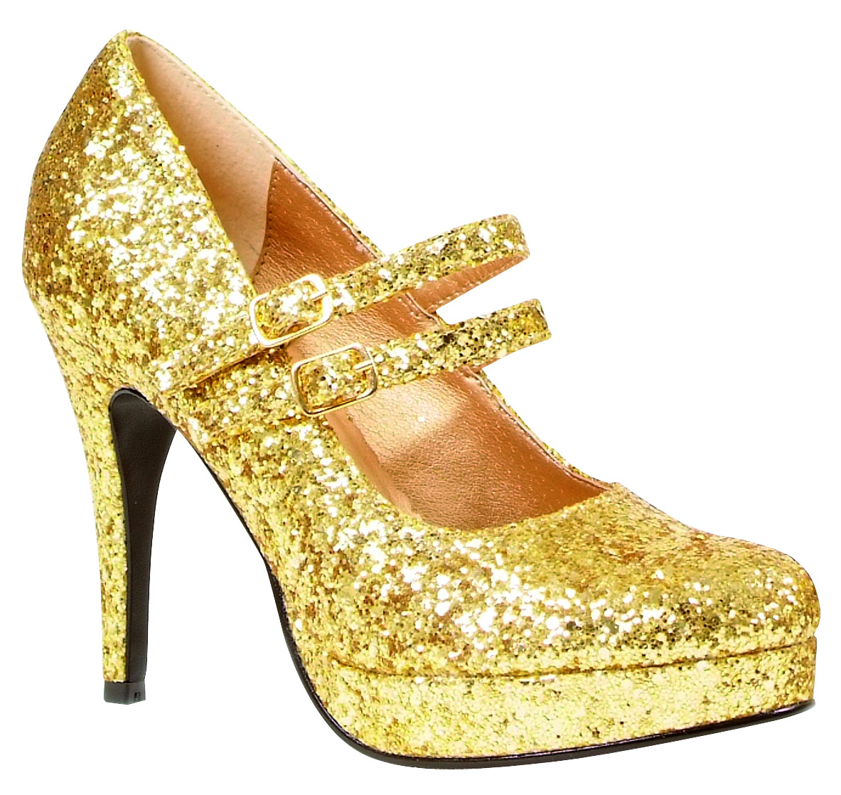 Chaussures pour femmes Paillettes d'or Mary Jane chaussures