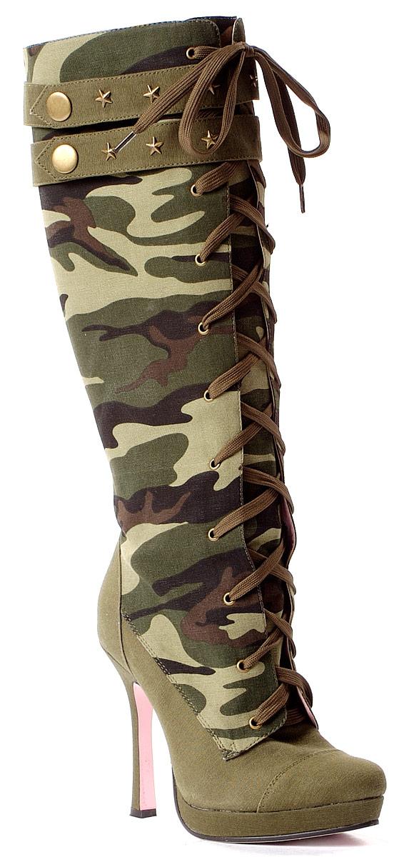 Chaussures pour femmes Bottes de l'armée Mesdames