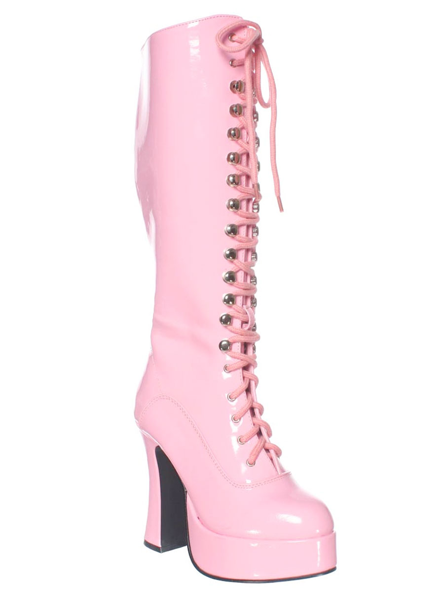 Chaussures pour femmes Mesdames rose Lace Up bottes
