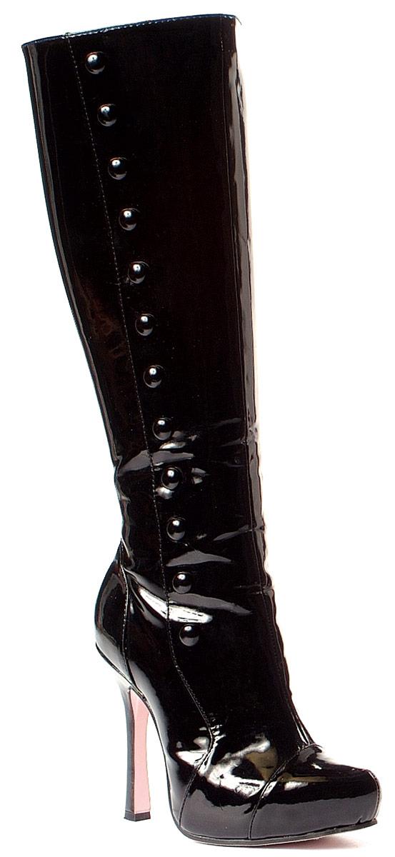 Chaussures pour femmes Haute de genou Boot noir verni