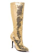 Bottes de genou de Sequin or dames Chaussures pour femmes
